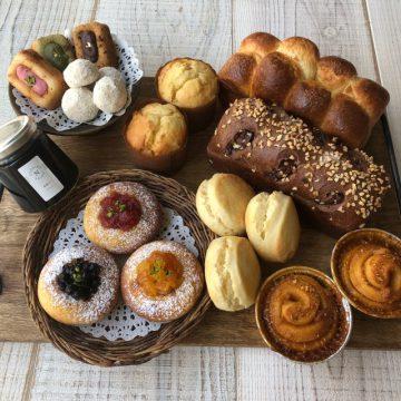 アフタヌーンティーを楽しむパンとお菓子のセット6月22日を焼きました!