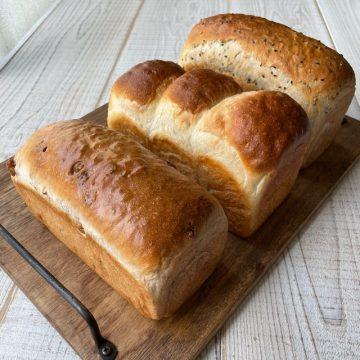「選べる食パン3斤セット」を焼きました!